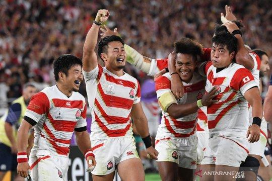 Jepang tembus perempat final Piala Dunia Rugby untuk pertama kalinya