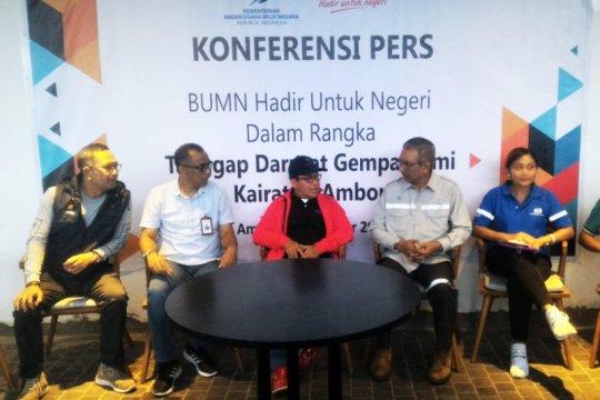 BUMN salurkan Rp3,04 miliar untuk korban gempa Maluku