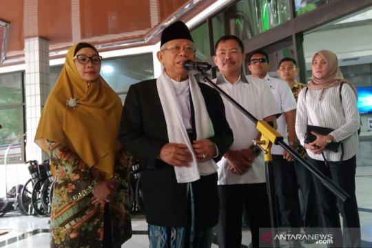 Ma'ruf Amin: Tidak lama lagi Pak Wiranto akan pulih
