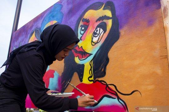 Seniman graffiti perempuan Indonesia gelar Ladies on Wall 2019