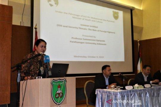 Pakar Asia Tenggara asal Indonesia beri kuliah umum di Yordania