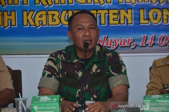 TNI AD restorasi sungai di Lombok Barat