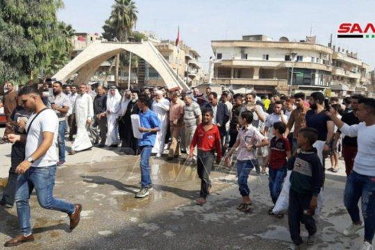 Protes digelar di Hasaka dan Qamishli untuk kutuk serangan Turki