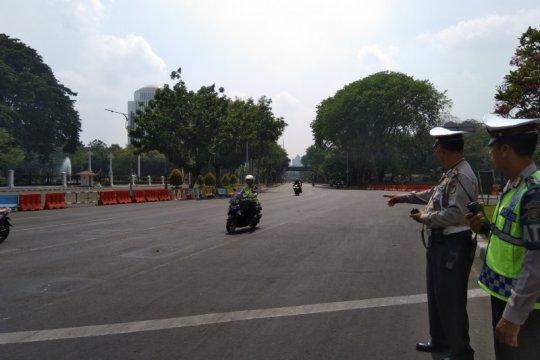 Lalu lintas di Jalan Merdeka Utara dan Barat ditutup