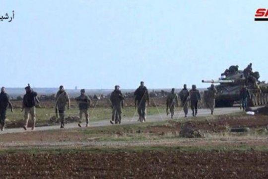 Satuan tentara Suriah selesaikan penggelaran di Manbij