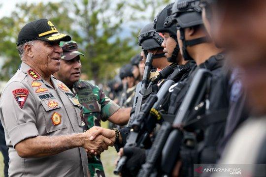 Apel gabungan TNI dan Polri di Wamena