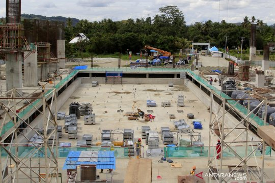 Pembangunan venue aquatic PON Papua