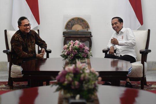 Presiden Joko Widodo terima kunjungan Ketua Umum PAN