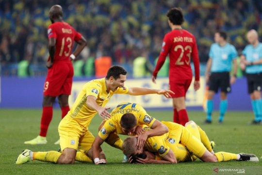 Kualifikasi Piala Eropa 2020 - Kalahkan Portugal, Ukraina lolos ke putaran final