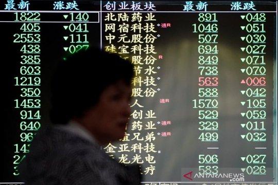 Saham China ditutup lebih tinggi pada hari Senin