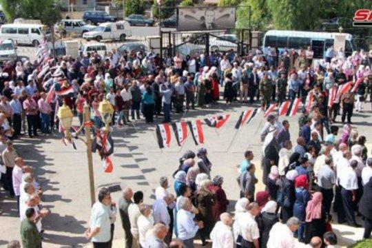 Rakyat Daraa protes serangan Turki ke wilayah Suriah