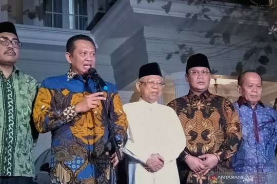 Ma'ruf Amin apresiasi silaturahmi politik yang dilakukan pimpinan MPR