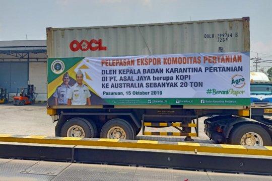 Kementan lepas ekspor 20 ton kopi asal Jatim ke Australia