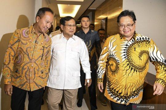 Prabowo beserta jajaran tiba di DPP Golkar