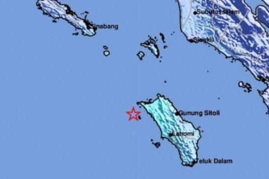 Gempa Magnitudo 5,2 guncang Nias Utara, tidak berpotensi tsunami