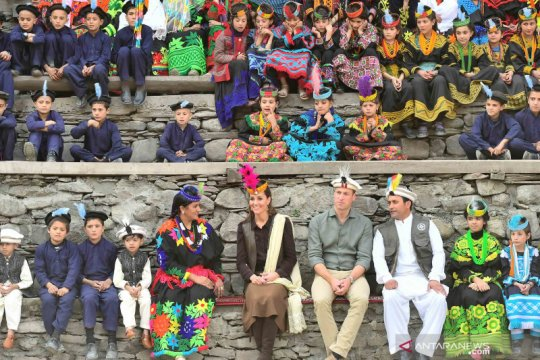 Pangeran William dan istri berkunjung ke Pakistan