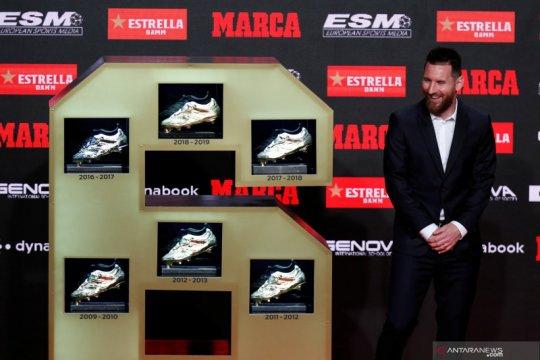 Lionel Messi sabet Sepatu Emas keenam