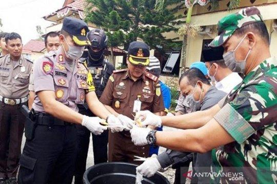 Polres Sukamara musnahkan sabu-sabu senilai Rp1 miliar