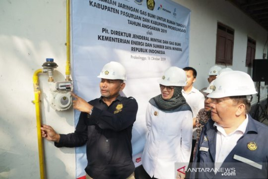 8.150 rumah tangga di Probolinggo dan Pasuruan nikmati gas bumi PGN