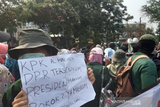 BEM SI desak Presiden Jokowi keluarkan Perppu KPK