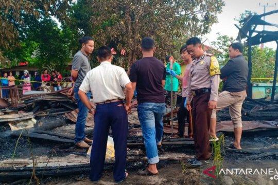 Rumah bersama penghuninya terbakar di Bangka Tengah