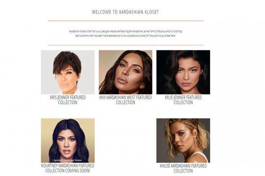 Pakaian bekas keluarga Kardashian - Jenner dijual online