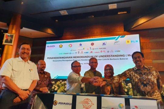 AP II - PLN sepakati kerja sama infrastruktur pengisian mobil listrik