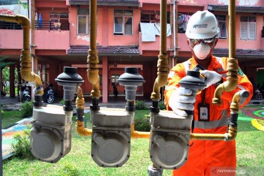 Target pembangunan jaringan gas rumah tangga