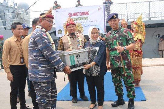 Danlanal Palembang sambut tim kas  keliling BI-KRI Barakuda