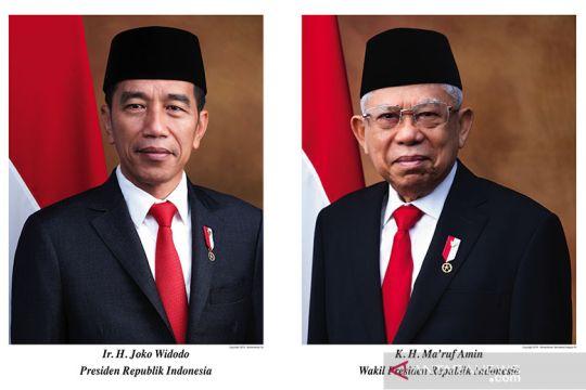 Foto resmi Presiden dan Wakil Presiden terpilih