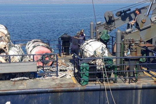 KM Orca 04 amankan delapan rumpon ilegal di Laut Timor
