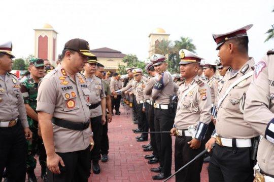 Polda Banten apel pasukan kesiapan pengamanan pelantikan presiden dan wapres