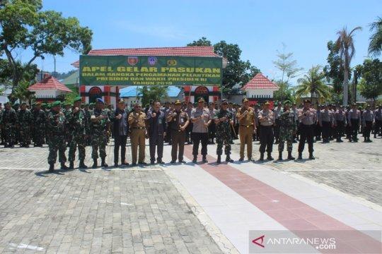 Jelang pelantikan Presiden  TNI-Polri gelar apel pasukan