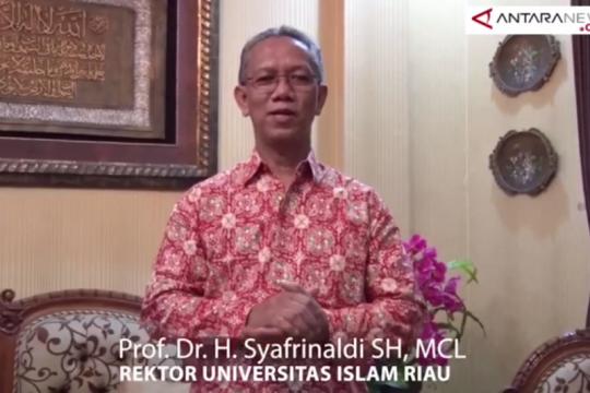 Rektor Universitas Islam Riau mahasiswa hormati pelantikan Presiden