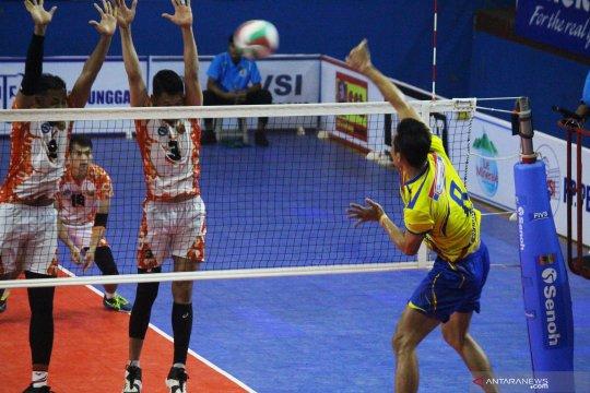 TNI AU lolos semifinal liga voli