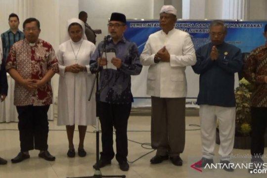 Jelang pelantikan Presiden,  Sukabumi gelar doa bersama lintas agama