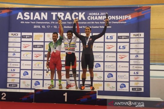 Muhammad Fadli juara Asia balap sepeda nomor Individual Pursuit