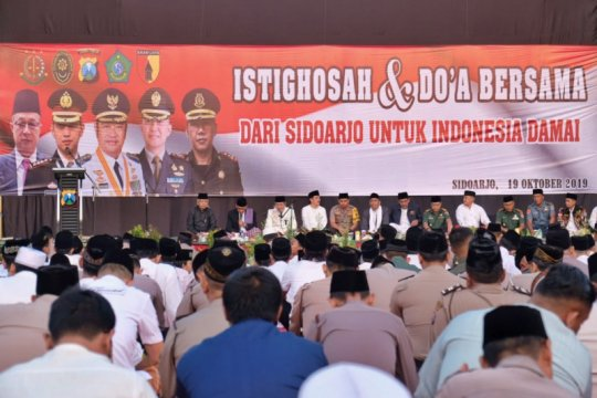 Forkopimda Sidoarjo bermunajat untuk Indonesia damai