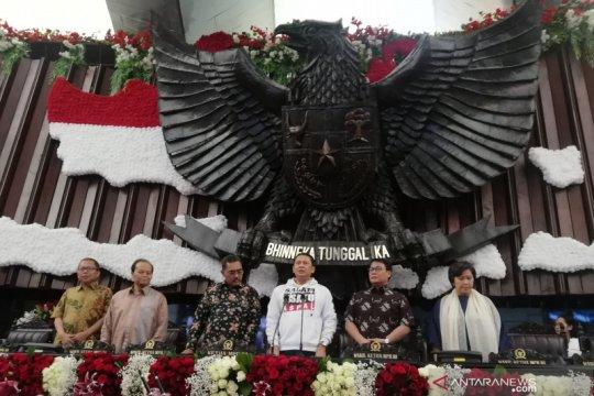 Tujuh pimpinan MPR saksikan gladi bersih pelantikan presiden