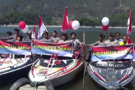 TNI-Polri Magetan gelar Parade Merah Putih jelang pelantikan presiden
