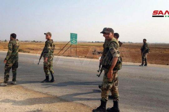 Personel militer Suriah perkuat posisi di daerah Tal Tamr/Al-Ahras