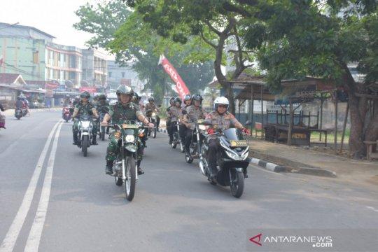 Kapolda Jambi dan Danrem bersepeda motor lakukan patroli kota