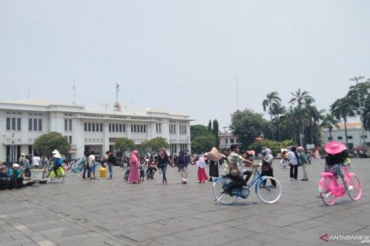 Pelantikan presiden, pengunjung Kota Tua berkurang karena tak ada HBKB