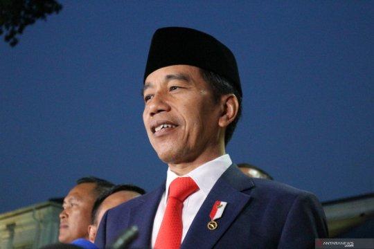 Usai dilantik, Presiden Jokowi berterima kasih kepada TNI-Polri