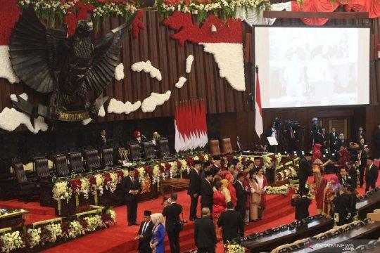 Beginilah suasana gedung Nusantara sebelum upacara pelantikan presiden dan wapres