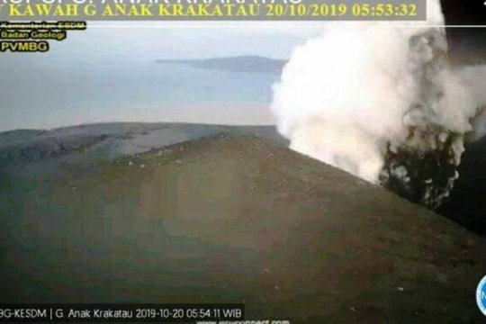 Dua kali erupsi terjadi di Gunung Anak Krakatau