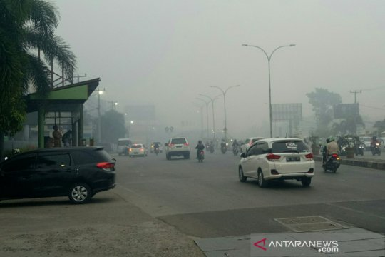Kualitas udara Palembang masih tidak sehat akibat kabut asap