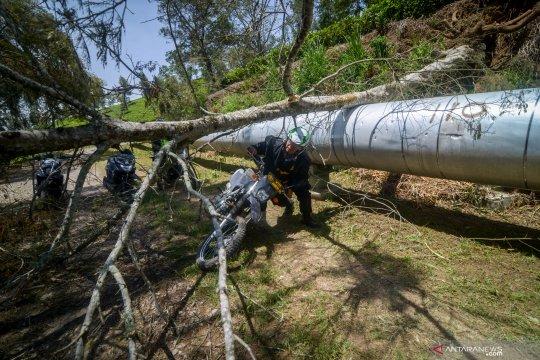 Bencana angin ribut di Pengalengan