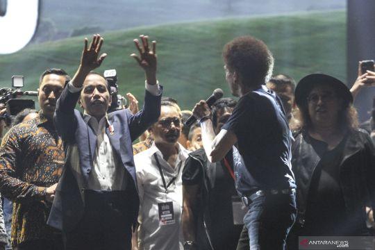 Usai pelantikan, Presiden Jokowi hadiri konser musik untuk republik