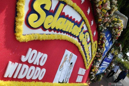 Karangan bunga ucapan selamat pelantikan Presiden Jokowi-Wapres Ma'ruf Amin